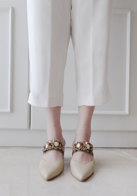 YARA HEELS IVORY BROWN